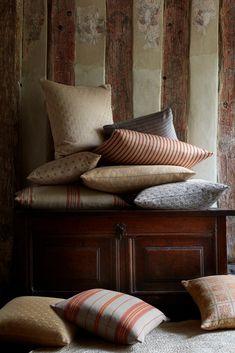 Rustic Cottage, Cottage Style, Motif Design, Fabric Design, Pastel Colour Palette, Tartan Fabric, Herringbone Pattern, Striped Fabrics, Soft Furnishings