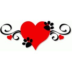 Dog Mom Discover Silhouette Design Store: Doggy Paws On Heart Silhouette Design Store - View Design doggy paws on heart