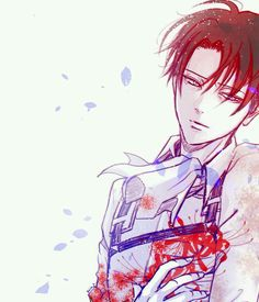 Shingeki no Kyojin | Attack on Titan| Levi << Ces fleurs veulent dire suicide-toi :c