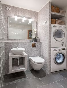 Welcome to Roger's home page Bathroom Design Layout, Modern Bathroom Design, Bathroom Interior Design, Bathroom Styling, Modern Laundry Rooms, Laundry Room Layouts, Big Bathrooms, Small Bathroom, Laundry Bathroom Combo
