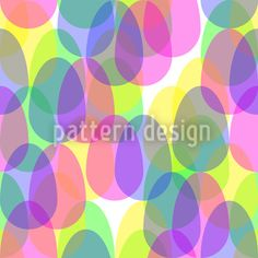 Eggs In The Glass designed by Tanja Fischer available on patterndesigns.com Vector Pattern, Pattern Design, Coloring Easter Eggs, Glass Design, Abstract Pattern, Patterns, Art, Block Prints, Art Background