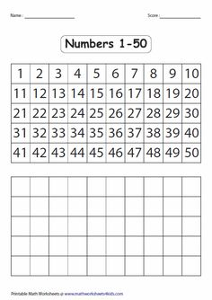 See 10 Best Images of Number Chart 50 Inspiring Number Chart 50 template images. Blank Number Chart 1 50 Free Printable Number Chart Printable Number Chart 1 50 Missing Numbers to 50 Printable Number Chart 1 50 Number Writing Practice, Writing Practice Worksheets, Kindergarten Math Worksheets, Tracing Worksheets, Numbers Kindergarten, Numbers Preschool, Math Numbers, Writing Numbers, Number Chart