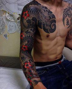 """5,950 Me gusta, 19 comentarios - Japanese Ink (@japanese.ink) en Instagram: """"Japanese tattoo sleeve by @horitaka_tattoo. #japaneseink #japanesetattoo #irezumi #tebori…"""""""