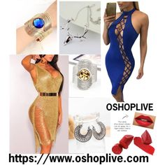 https://www.oshoplive.com/collections/sexy-dresses/products/solid-color-hollow-halterneck-bodycon-bandage-dress  https://www.oshoplive.com/collections/jewelry/p...
