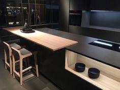 Modern kitchen island in gray