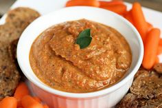 Whow would have thought you could make a dip from eggplant?! Genius! Eggplant and Roasted Red Pepper Dip (vegan, gluten-free) by Tasty Yummies, via Flickr
