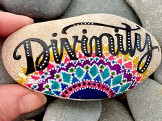 A personal favorite from my Etsy shop https://www.etsy.com/listing/510622011/divinity-painted-rocks-painted-stones