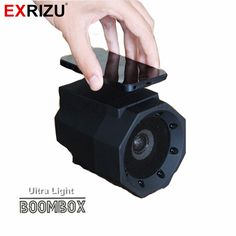 EXRIZU Touch Speaker Induction Boombox Ultra Light Mini Wireless Portable HIFI Subwoofer Speakers for Phone No Cable No Pairing #Affiliate