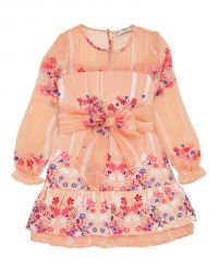 Supertrash Drew Hawaiian Feathered Dress In Pink    Igloo Kids Clothing