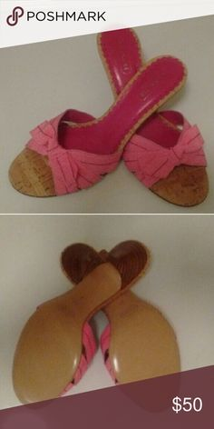 COACH BREE Pink Bow Sandal Slides NWOT Brand new. Does not come with box.  This is a cute & sexy pair of sandals with a kitten heel. Will look lovely with your floral skirts & dresses, as well as make your slacks, jeans & Capris pop with an accent of color!?? Coach Shoes Sandals