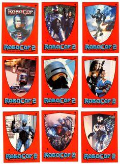 Sheet of RoboCop 2 stickers (1990)