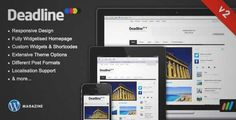 Download and review of Deadline - Responsive WordPress News / Magazine Theme, one of the best Themeforest Magazine & Blogs themes