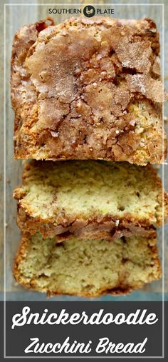 Zucchini Bread - Southern Plate Snickerdoodle Zucchini Bread will have your family jumping for joy.Snickerdoodle Zucchini Bread will have your family jumping for joy. Köstliche Desserts, Delicious Desserts, Yummy Food, Southern Desserts, Baking Recipes, Cake Recipes, Dessert Recipes, Recipes Dinner, Top Recipes