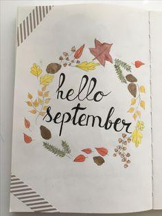 Bullet journal ~ Hello September