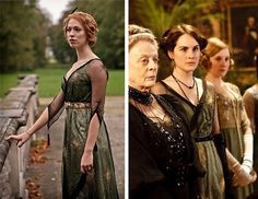 Parade's End's Sylvia Teitjens wearing Downton Abbey's Lady Mary's dress