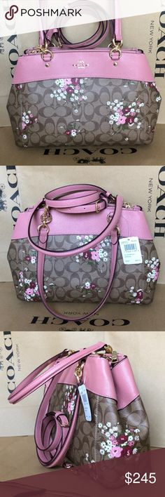 Coach Purse 100% Authentic Coach Shoulder Bag or Crossbody, brand new with tag!color Brown/Multi Coach Bags Shoulder Bags