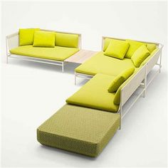 Paola Lenti Canvas Modular Sofa - Style # BA69xx, Modern Outdoor Sectional Sofas – Outdoor Sectional Sofa – Contemporary Outdoor Sectional Couch | SwitchModern.com