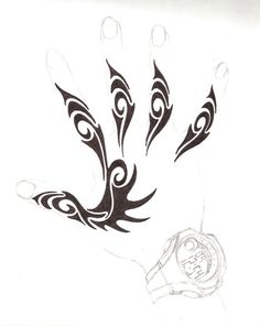 henna hand design by Kielrae on DeviantArt - Henna Hand Designs, Tribal Tattoo Designs, Designs Mehndi, Tribal Hand Tattoos, Body Art Tattoos, Paisley Tattoos, Henna Tattoos, Norse Tattoo, Viking Tattoos
