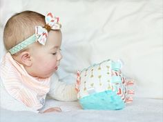 Rattle Tag Block- {Azlyn} by MunchkinLaneBoutique on Etsy