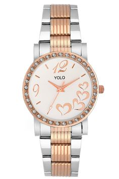 YOLO Women's White Dial Analog Wrist Watch with Rosegold Metal Strap Is A Unique And Innovative Product In The Wrist Watches Market. This Amazing, Stylish Fashion Watch Has Arrived To Complement Your Look And Attitude.