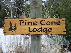 Personalized Cabin Signs   Routed Wooden Signs by CedarSignsOnline, $50.00