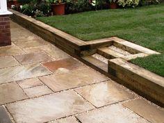 garden sleepers ideas garden retaining wall ideas wooden railway sleepers steps