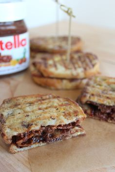 Nutella Bacon French Toast Breakfast Panini I think I just died...