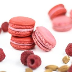 Raspberry Almond Macarons & Macarons 101: A Beginner's Guide to mastering these manic treats. Printable piping template included.