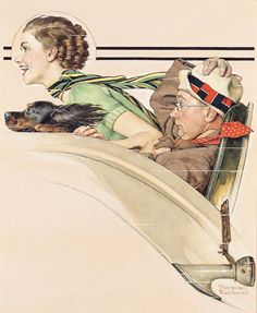 Couple in Rumble Seat, THE SATURDAY EVENING POST, July 13, 1955