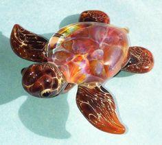 Jessee Lampwork Glass Focal Bead Pendant Turtle Boro | eBay