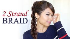 How to: 2-Strand Braid Ponytail Hair Tutorial   Hairstyles for Long Hair