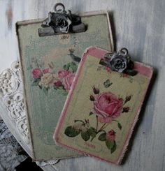 shabby chic clipboards….