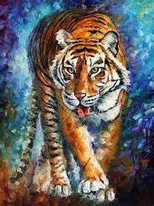 ... de tigre peinture à l'huile sur toile peinture de tigre pour