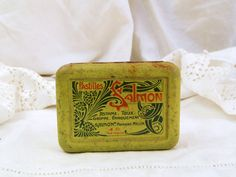 Antique Art Nouveau French Cough Candy Tin / French Decor / Vintage French/ Cottage Chic