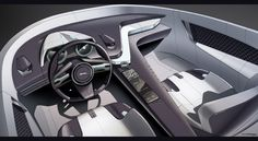 Jaguar 2 Seater Design Studies On Behance Car Interior