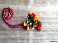 Kutchi Cowri Shells and Pom Pom Camel Swag Embellishment Hair Accessory / Belt / Decorative Curtain tie back Handmade Accessories, Hair Accessories, Curtain Tie Backs, Swag, Gifts For Wife, Etsy Jewelry, Embellishments, Etsy Shop, Crafts