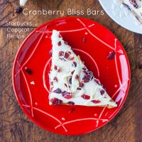 www.loveveggiesandyoga.com  Cranberry Bliss Bars Starbucks Copycat Recipe