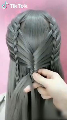 Super easy to try a new #hairstyle ! Download #TikTok today to find more hairsty...,  #download #easy #find #hairsty #hairstyle #super #tiktok #today,