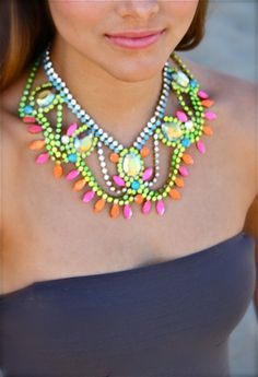 Neon Vintage Necklace