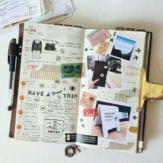 Art Journal pages, inspiration and ideas for keeping an art journal or a midori travel journal, notebook, or scrapbook Filofax, Scrapbook Journal, Travel Scrapbook, Scrapbook Titles, Travelers Notebook, Creative Journal, Creative Diary, Journal Pages, Journal Ideas