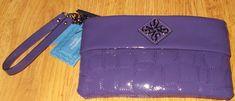 Simply Vera Wang Plum Purple Wristlet Vinyl #SimplyVerabyVeraWang #Wristlet