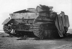 A disabled Stug IV looks to be in rough condition