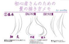 hair Manga Drawing Tutorials, Manga Tutorial, Anime Drawing Styles, Drawing Techniques, Drawing Tips, Art Tutorials, Drawing Hair Braid, Manga Hair, Manga Anime