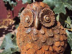Owl Stone  ooak finish Owl Statuary Owl by MountainArtCasting