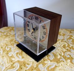 Vintage 1970's Sunbeam Electric Alarm Clock by ReminiscingThePast