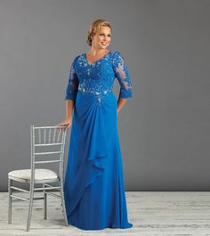 Cheap mom dress, Buy Quality dresses mom directly from China mothers mother Suppliers: Blue White Plus Size Mother Of The Bride Dress With half Sleeve Appliques Beaded Chiffon Women Formal Dress Mom Gown Custom Made Plus Size Evening Gown, Women's Evening Dresses, Mom Dress, Dress Up, Godmother Dress, Bride Groom Dress, Bride Dresses, Prom Dresses, Lace Dresses
