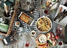 Fourth of July Picnic  Recipes for: blue cheese dip, sugar snap salad, zucchini cornbread, flank steak with bloody Mary tomato salad, fingerling potato salad and cherry hand pies!