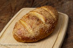 Wild Life in the Woods: Semolina Sesame Artisan Bread