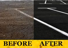 Sealcoat & Striping | Why Parking Lot Maintenance Chesapeake Va, Parking Lot, Pavement, Floor, Sidewalk