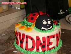 Cake Designs for Kids Birthdays - Ladybug  Cake #cakedesigns